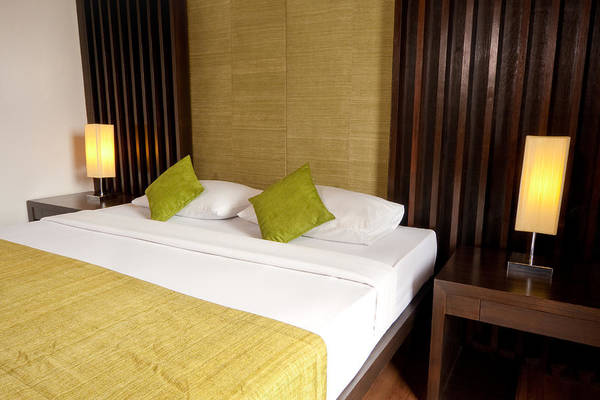 Hotel Poster featuring the photograph Bed Room by Atiketta Sangasaeng