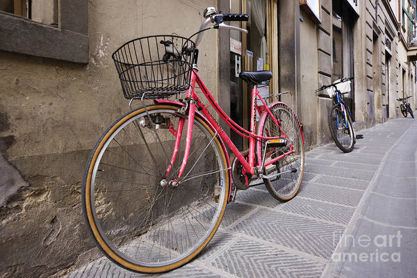 Apartment Poster featuring the photograph Bicycles Parked In The Street by Jeremy Woodhouse