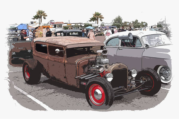 Model A Sedan Poster featuring the photograph Car Show 1928 by Steve McKinzie