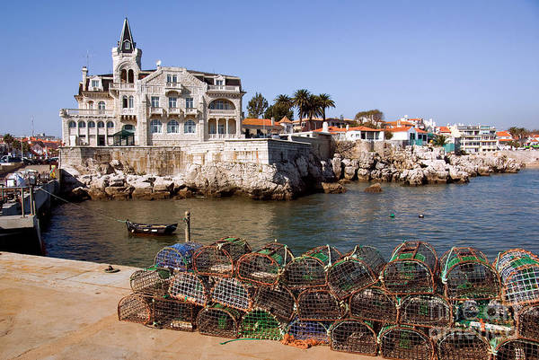 Anchored Poster featuring the photograph Cascais Bay by Carlos Caetano