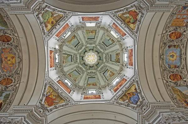 Salzburg Poster featuring the photograph Cathedral Dome Interior, Close Up by Axiom Photographic