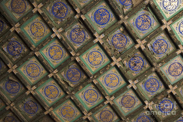 Ancient Poster featuring the photograph Ceiling Tiles In The Forbidden City by Sam Bloomberg-rissman