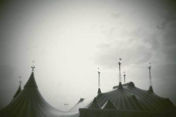 Horizontal Poster featuring the photograph Circus Tent by Copyright Lynn Longos