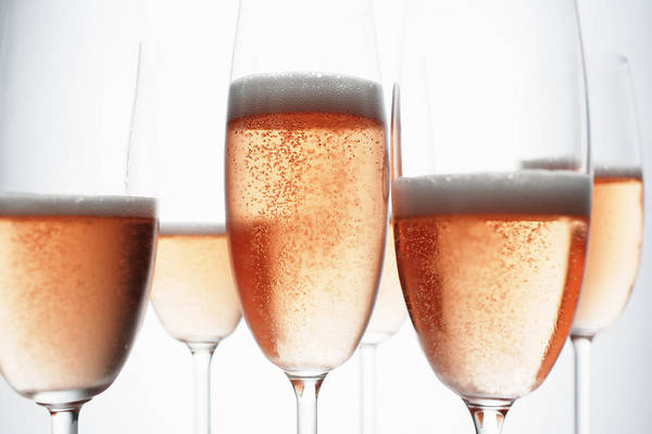 Horizontal Poster featuring the photograph Close Up Of Glasses Of Champagne by Brett Stevens