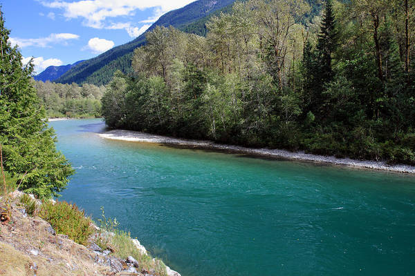 North Cascades National Park Poster featuring the photograph Colorful Skagit River by Pierre Leclerc Photography