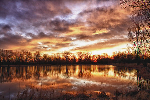 Hdr Poster featuring the photograph Crane Hollow Sunrise Boulder County Colorado Hdr by James BO Insogna
