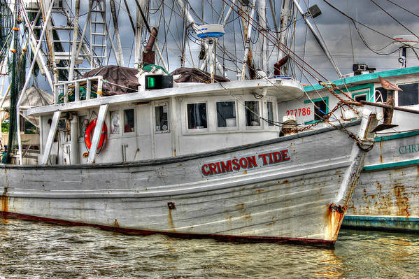 Shrimp Boat Poster featuring the photograph Crimson Tide by Lynn Jordan