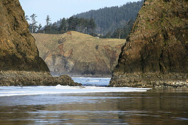 Seascape Poster featuring the photograph Ecola From Chapman Pt. by Steven A Bash