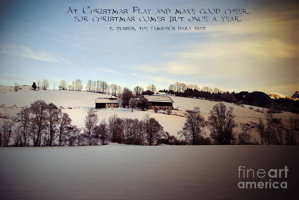 Winter Poster featuring the photograph Farmer's Christmas by Sabine Jacobs
