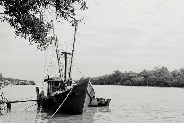 Horizontal Poster featuring the photograph Fishing Bumboat by Photo Copyright of Love Image Lab (by Sim Chin Ping)