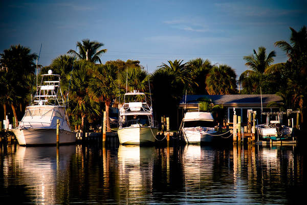 Fort Pierce Poster featuring the photograph Fort Pierce Marina by Trish Tritz
