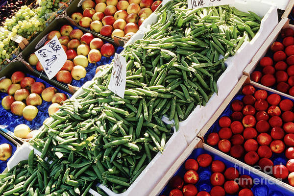 Abundance Poster featuring the photograph Fruit And Vegetable Stand by Jeremy Woodhouse