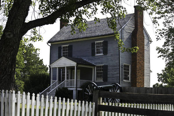 Appomattox Poster featuring the photograph George Peers House Appomattox Virginia by Teresa Mucha