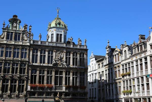 Grand Place Poster featuring the photograph Grand Place Buildings by Carol Groenen