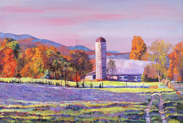 Landscape Poster featuring the painting Heartland Morning by David Lloyd Glover