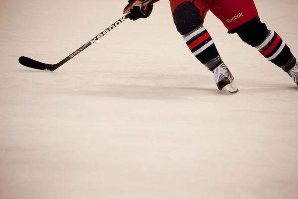 Hockey Poster featuring the photograph Hockey Stride by Karol Livote