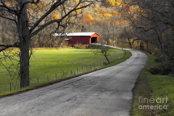 Digital Poster featuring the photograph Hoosier Autumn - D007843a by Daniel Dempster