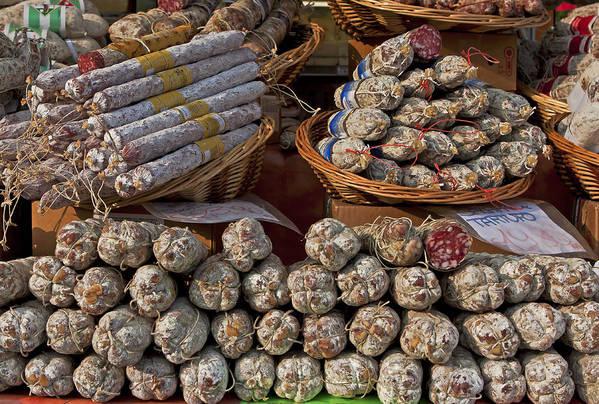 Salami Poster featuring the photograph Italian Market by Joana Kruse
