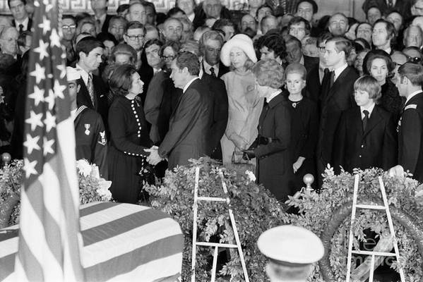 1973 Poster featuring the photograph Johnson Funeral, 1973 by Granger