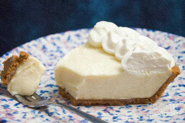 Key Lime Pie Poster featuring the photograph Just One Bite Of Key Lime Pie by Andee Design