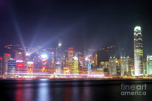 Tst Poster featuring the photograph Lighting Up The Harbor by Bibhash Chaudhuri