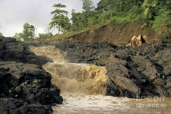 Vanuatu Poster featuring the photograph Little Falls by Sami Sarkis
