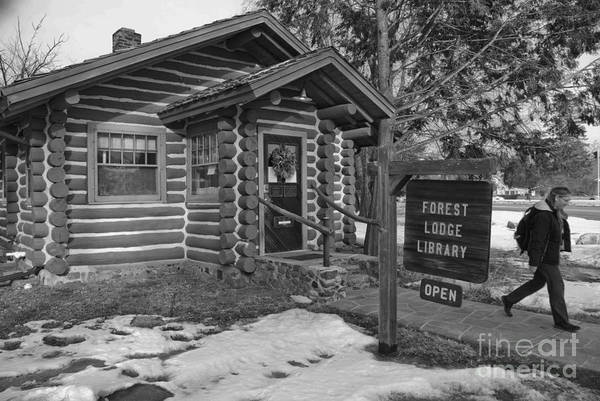 Library Poster featuring the photograph Log Cabin Library 11 by Jim Wright
