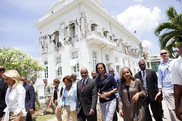 History Poster featuring the photograph Michelle Obama And Jill Biden Tour by Everett