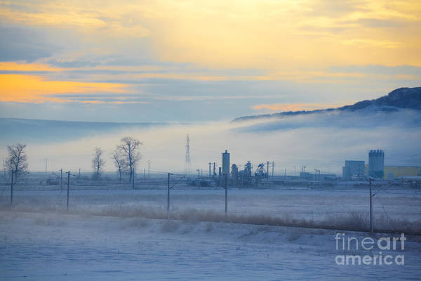 Morning Poster featuring the photograph Morning Landscape In Winter by Gabriela Insuratelu