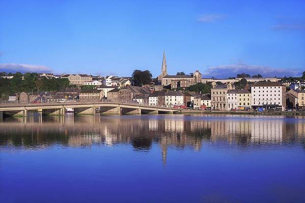 Blue Sky Poster featuring the photograph New Ross, Co Wexford, Ireland by The Irish Image Collection