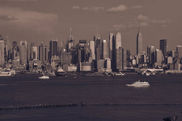 New York City Skyline Poster featuring the photograph Nyc Skyline by Kirit Prajapati
