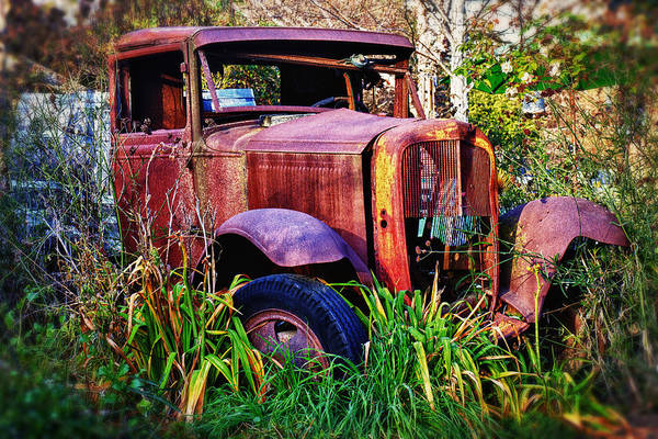 Truck Poster featuring the photograph Old Rusting Truck by Garry Gay