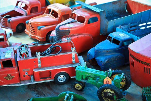 Ford Truck Poster featuring the photograph Old Tin Toys by Steve McKinzie