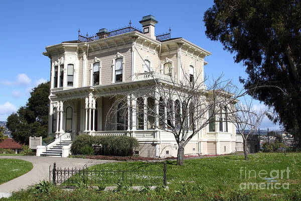 Bay Area Poster featuring the photograph Old Victorian Camron-stanford House . Oakland California . 7d13445 by Wingsdomain Art and Photography