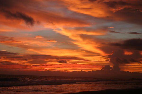 Sunset Poster featuring the photograph Pacific Sunset Costa Rica by Michelle Wiarda