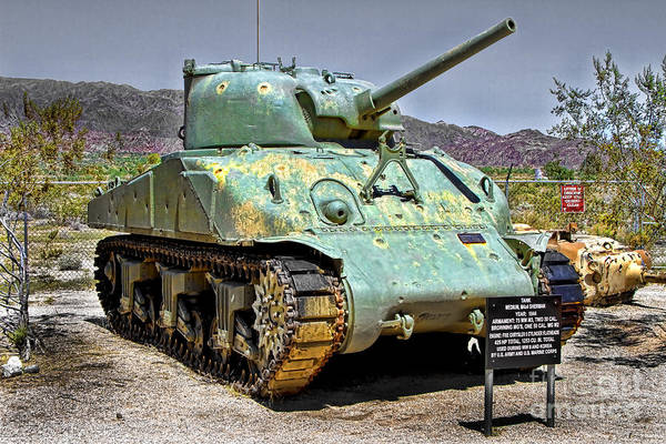 Patton M4 Sherman Poster featuring the photograph Patton M4 Sherman by Jason Abando