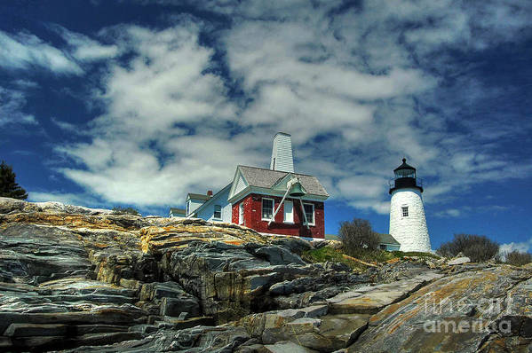 Pemaquid Poster featuring the photograph Pemaquid Lighthouse by Alana Ranney