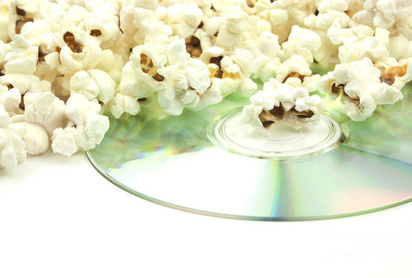 Popcorn Poster featuring the photograph Popcorn And Movie by Blink Images