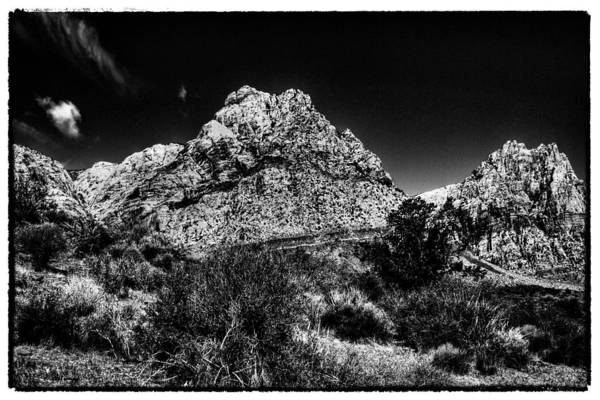 Red Rock Poster featuring the photograph Red Rock Canyon At Spring Mountain by David Patterson