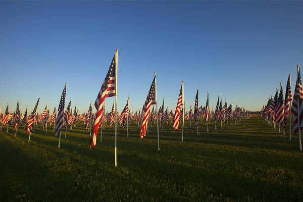 Flags Poster featuring the photograph Remember 911 by Mike Dawson
