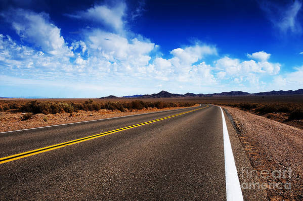 Arid Poster featuring the photograph Road Through Rural Area by Jacobs Stock Photography