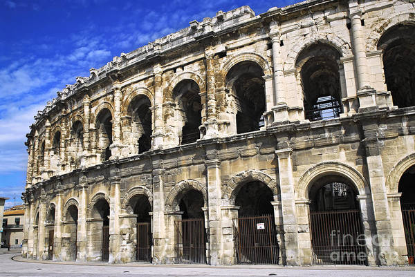 Nimes Poster featuring the photograph Roman Arena In Nimes France by Elena Elisseeva
