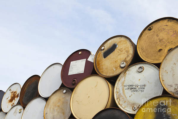 Barrel Poster featuring the photograph Rows Of Stacked Barrels by Paul Edmondson