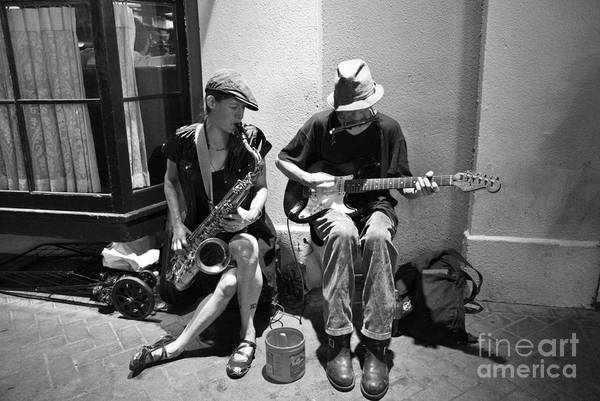 New Orleans Poster featuring the photograph Royal Street Music by Leslie Leda