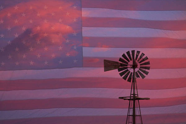 Windmills Poster featuring the photograph Rural America by James BO Insogna