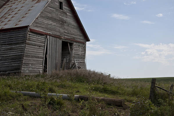 Barn Poster featuring the photograph Rustic Barn Still Standing by Wilma Birdwell