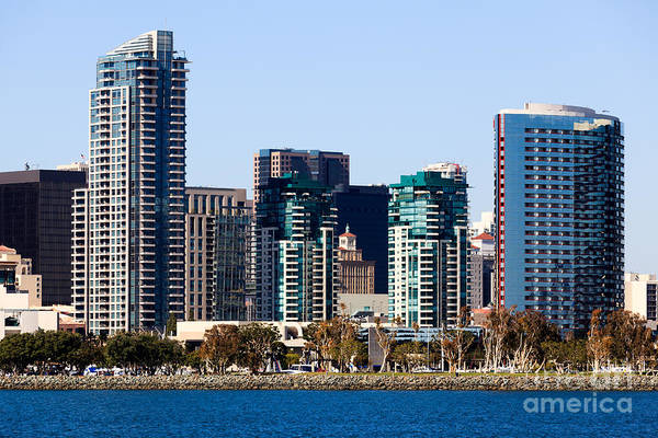 2012 Poster featuring the photograph San Diego California Skyline by Paul Velgos