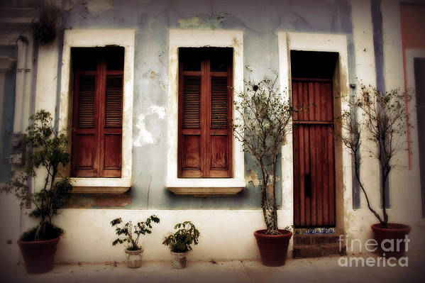 Door Poster featuring the photograph San Juan Living by Perry Webster