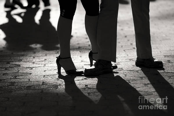 Tango Poster featuring the photograph Shadows Of Tango by Leslie Leda