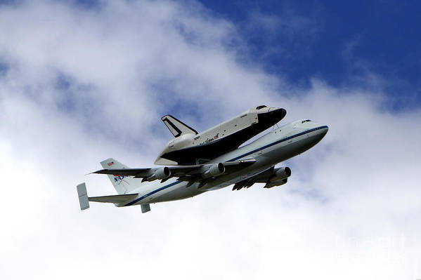 Uss Intrepid Poster featuring the photograph Space Shuttle Enterprise by Thanh Tran